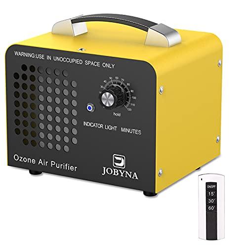 JOBYNA Generador de Ozono 10,000mg/h con Control Remoto, O3 Purificador Ozono de Aire con Temporizador Ozonizador Elimina Olores para Oficina, Garaje, Automóviles, Habitación, Humo y Mascotas