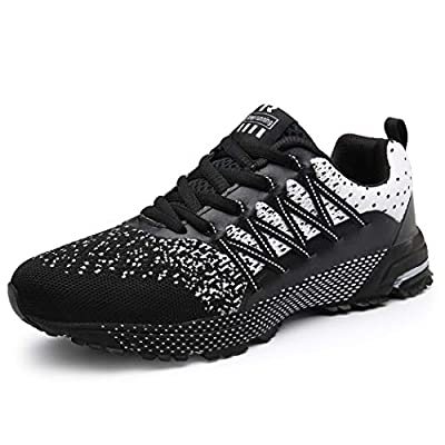 KUBUA Mens Running Shoes Womens Walking Gym Training Shoes