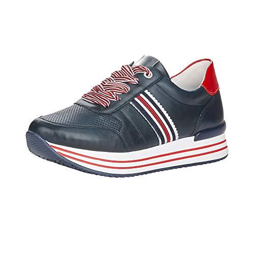 Remonte Damen Schnürhalbschuhe D1305, Frauen sportlicher Schnürer, Halbschuh schnürschuh strassenschuh Sneaker schnürer,Pazifik,40 EU / 6.5 UK