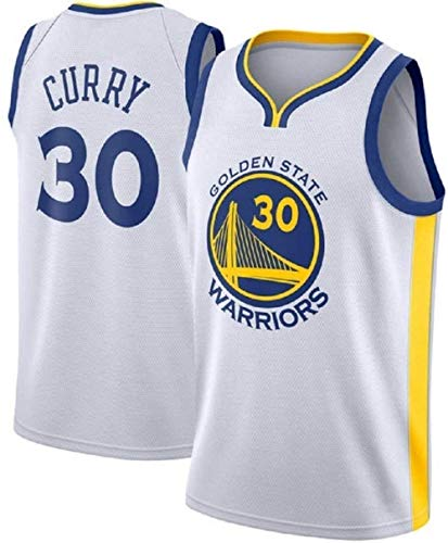 ZSPSHOP NBA Jersey Golden State Warriors No.30 Curry Jerseys - Maillot de baloncesto bordado transpirable (color: D, tamaño: pequeño)