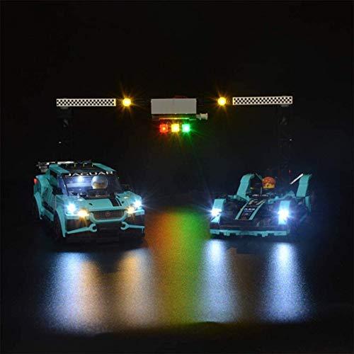 ZHLY LED Licht-Set für Lego Speed Champions Formula E Panasonic Jaguar Racing GEN2 car & Jaguar I-PACE eTROPHY 76898 USB und Batterie Betrieben (Lego-Modell Nicht enthalten)
