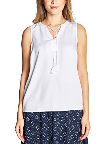 CECIL Damen 341450 Bluse per pack Weiß (White 10000), XX-Large (Herstellergröße:XXL)