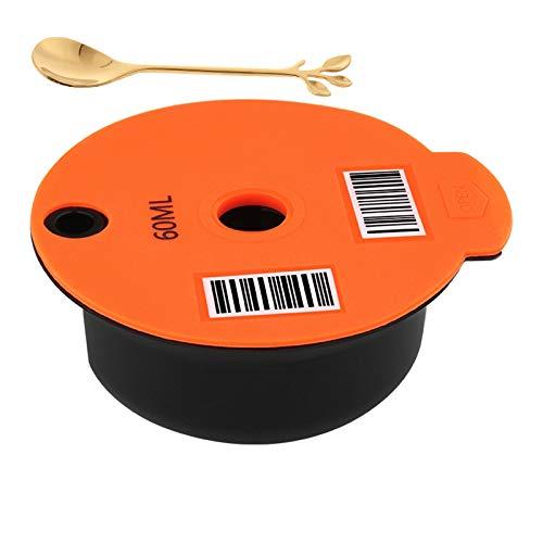 Fenteer Tazas de Cápsulas de Café de Plástico Reutilizables Recargables para Bosch Tassimo, Home Office Cafe con cuchara - 60ml