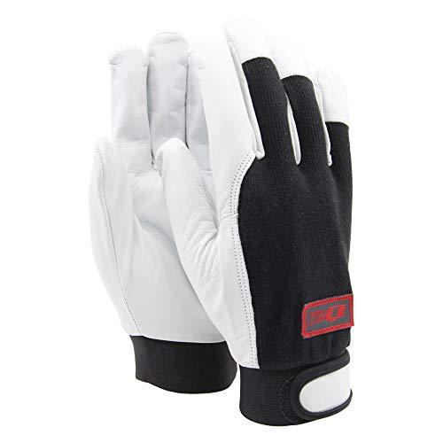 Soft Touch Focus Arbeitshandschuhe Montagehandschuhe Schwarz - Handschuhe aus Ziegenleder - 10 / XL - 1 Paar