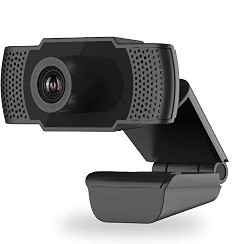2020 [Upgraded] 1080P HD Webcam with Microphone, Laptop Desktop PC Web Camera 2MP, 30fps, USB Plug and Play Video Computer Camera for Live Streaming, Gaming, Calling and Conferencing (Black)