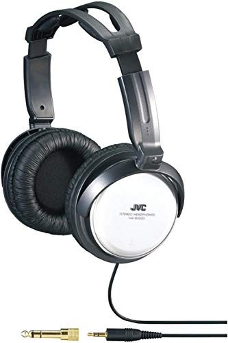 JVC Over-the-Ear Comfortable Stereo Headphones with Extra Long 11 feet Cord, 40mm driver & Adjustable Cushioned Headband for Sony CMTBX20i, CMT-FX300i, CMT-LX20i, CMTMX500i, CMTMX700Ni, LBT-LCD77Di, LBTZUX9, LBT-ZX66i, LBT-ZX99i, MHC-EC69i, MHCEC709iP, MHCEC909iP, WHG-SLK1i Hi-Fi Music Shelf Stereo System, White