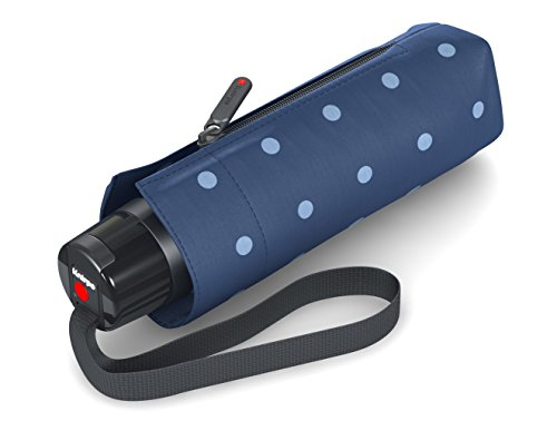 Knirps T.010 Taschenschirm Manual Kelly Blue - inkl. Futteral im Schirmdesign - kleines Packmaß - Easy Handling - 100% Polyester - Windkanal getestet - mit UV-Schutz - kompakt&komfortabel