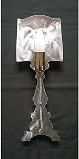 LAMPADA da Parete Design APPLIQUE in Ferro colore ferro spazzolato con filo bianco nero. 703