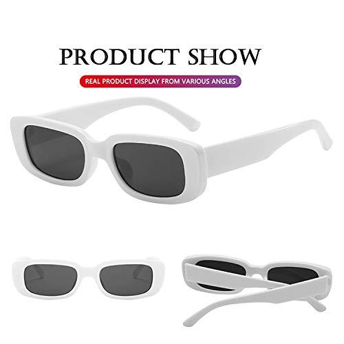 elegante Rectanglular Sunglasses for Women Retro Driving Sunlgasses Vintage Fashion Narrow Square Frame UV400 Protection