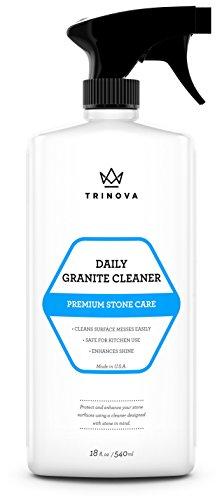 TriNova Granite Cleaner and Polish for Daily Use - Enhances Shine and...