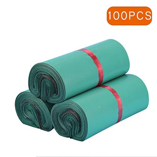 100 STK. Versandbeutel Plastik Versandtaschen, selbstklebend und Blickdicht, Versandtüten aus Plastik für Kleidung und Textilien,Grün (17 * 30cm/6.6 * 11.8 Zoll)