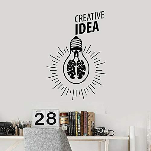 HGFDHG Etiqueta de la Pared Creativa Letras lámpara lámpara Cerebro Oficina decoración Interior Creativa Vinilo Etiqueta de la Ventana Texto Arte Mural