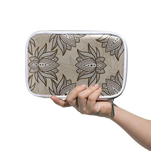 Trousse de maquillage Grand Lotus Parfumé Fleurs Rose Clair Grand Trousse de Toilette Pour Femmes Grands Sacs de Maquillage Multifonctionnel Petit Sac Cosmétique Pour Hommes Femmes