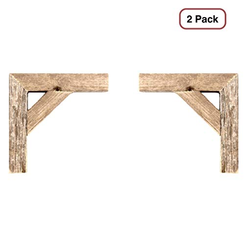 BarnwoodUSA | Set of 2 Farmhouse Corbels for Door Way Corners, Counter Top, Shelves | 100% Up-Cycled Reclaimed Wood