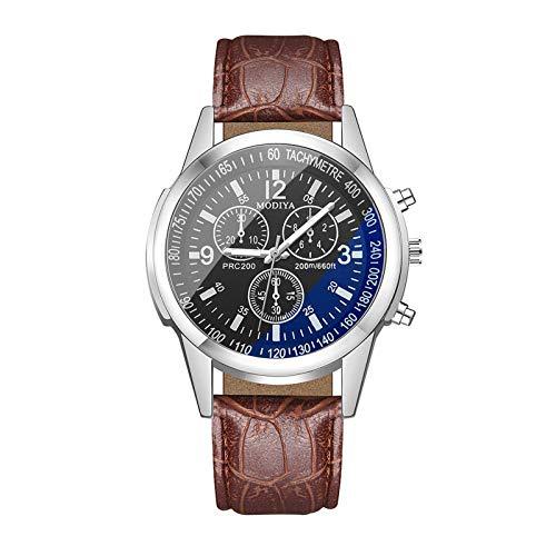JZDH Relojes para Mujer Reloj DE Regalo Reloj DE CUARTUT DE CUARTUS Casual Blue Light Glass Strap De Cuero Pulsera para Reloj De Moda Reloj De Moda Relojes Decorativos Casuales para Niñas Damas