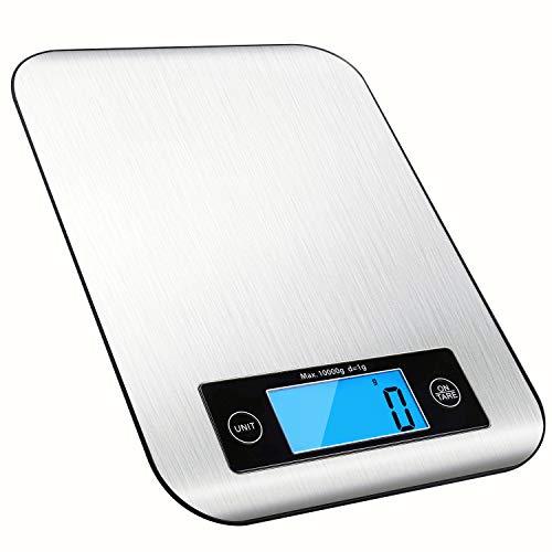 Bilancia Cucina Digitale 10kg, RedMiter Bilancia Elettronica da Cucina Professionale con Precisione...