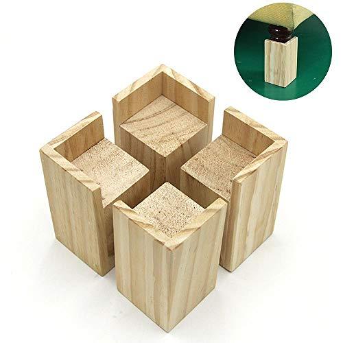 Bett Erhöhung, Möbel Risers Möbelerhöher, zur Höhenvergrößerung von Bett/Sofa/Tisch/Schminktisch und anderen Möbeln, Hubhöhe (10 cm),NutInnendurchmesser7 × 7cm, 4er-Set