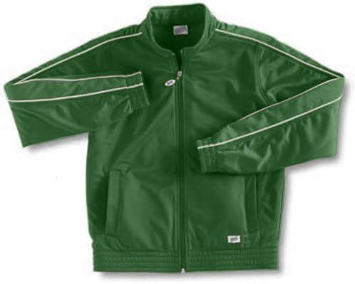 Soffe Girl's Warm-Up Jacket , Dk Green , Medium