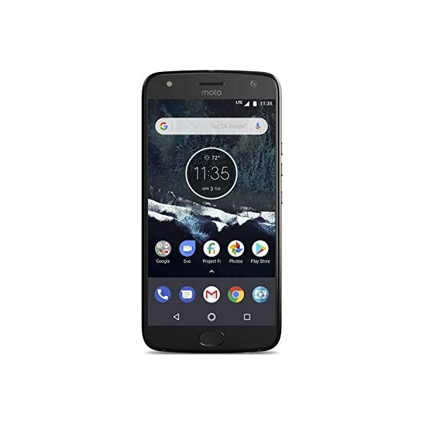"Motorola X4 Android One Edition Factory Unlocked Phone - 5.2"" Screen - 32GB - Sterling Blue - PA8S0025US Front Screen Display"