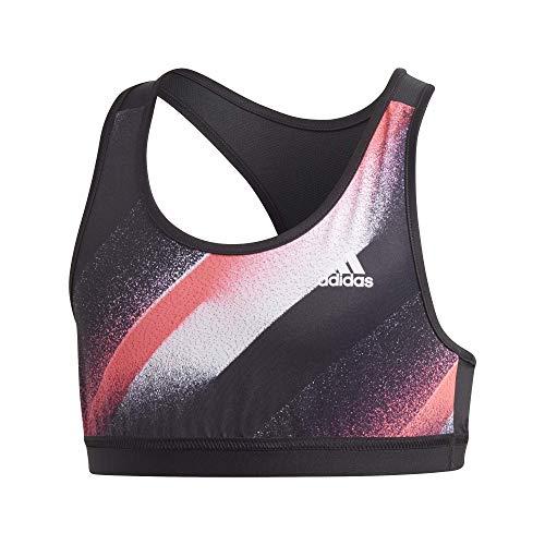 adidas Mädchen Sport-BH Unleash Confidence Sport-BH, Black/White/Sigpnk, 164, GD6148