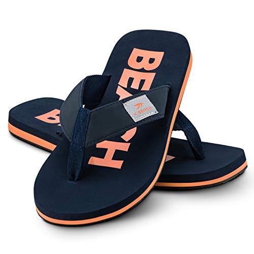 Ultrapower Flip-On Zehentrenner | Flip Flops | Badelatschen | Strandschuhe | Duschlatschen | Zehenstegpantolette | Bad | Sauna Schuhe | Sandalen | Blau/Orange | Gr.42