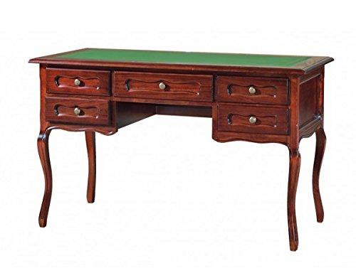 Vintage Home Scrivania in legno colore noce arte povera L130x60x79H