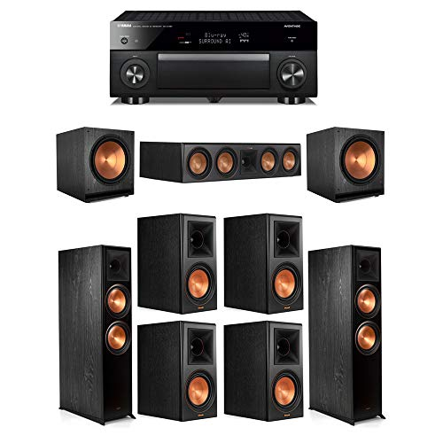 Why Should You Buy Klipsch 7.2.2 Ebony System - 2 RP-8060FA,1 RP-504C,4 RP-600M,2 SPL-150,1 RX-A108...