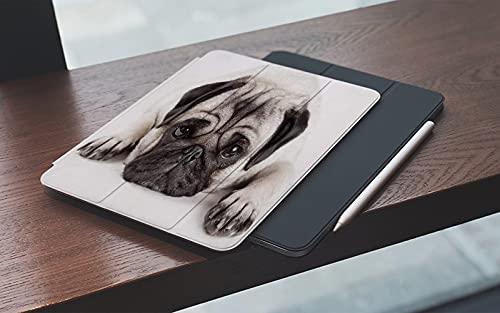 MEMETARO Funda para iPad (9,7 Pulgadas 2018/2017 Modelo), Animales Pug Cachorro Acostado Smart Leather Stand Cover with Auto Wake/Sleep