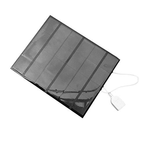Easyeeasy 3.5W 6V USB Panel Solar Power Bank Cargador de batería Externo Viajar al Aire Libre Cargador de Bricolaje para Tableta de teléfono móvil