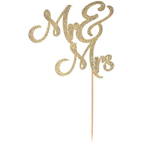 Mr & Mrs cake topper prime - Beautiful wedding cake topper perfect for wedding decorations, wedding decor, wedding anniversary decorations. A great gold wedding cake topper! By Dos Chonguitos