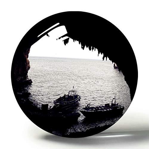 Hqiyaols Souvenir Italia Castro Grotta Zinzulusa imán de Nevera 3D colección de Recuerdos Regalo de Viaje círculo Cristal imanes de Nevera