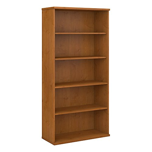 Bush Business Furniture Series C 36W 5 Shelf Bookcase, Natural Cherry