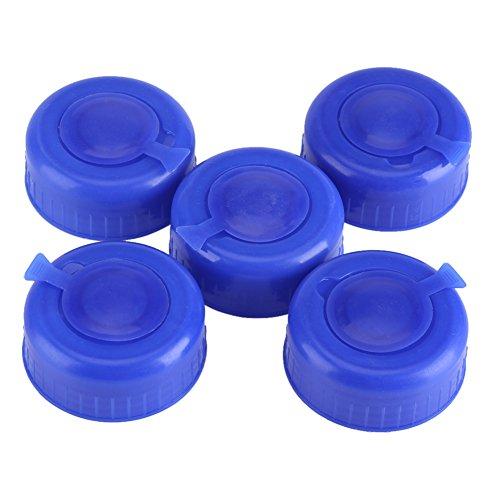 Zerodis Lot de 5 Bouchon Bouteille Eau Capuchon Distributeur Fontaine Accessoire Replacement Anti Splash Lids 3-5 gallons,Bleu