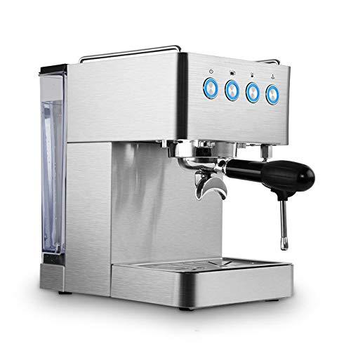 unknow Kaffeemaschine Mit Cappuccino Und Latte, Kessel Aus Aluminiumlegierung Und 15 Bar Druck , Silber, 1,7 L