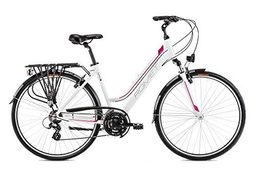 breluxx® 28 Zoll ALU Trekking Damenfahrrad Citybike FS - Gazela 1, weiß rot, Modell 2021