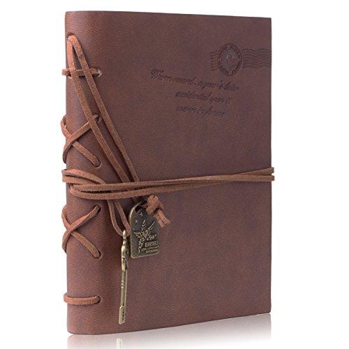 Taccuino – Meersee Travel Notebook Pagine Bianche Agenda in Cuoio in Stile Vintage Journal Diario con un Dono Gratuito
