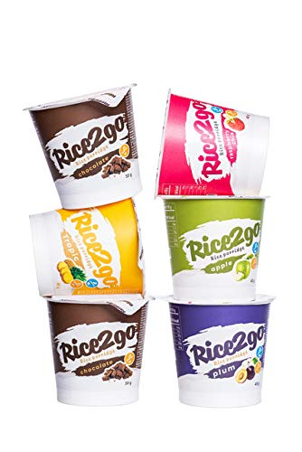 Rice2Go von MESAVERDE Creamy Reis, 5 + 1, ein gesundes Frühstück für einen erfolgreichen Start in den Tag, glutenfrei und laktosefrei geeignet für Veganer