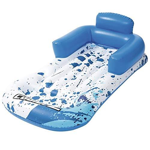 SADDPA reuze-blauw-platform stoel opblaasbaar zwembad Float zomer Air Bed Folding Island Beach Lounger zweefbed zwemplank blauw