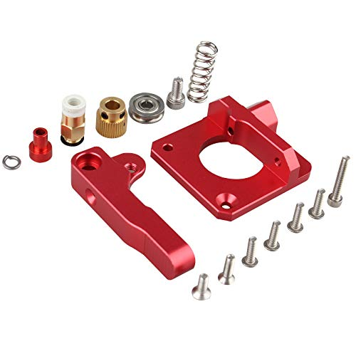 Upgraded Left Hand MK8 Bowden Extruder Aluminum Drive Feed Replacement 3D Printer Extruders Kit for Creality CR-10, CR-10S, CR-10 S4, RepRap Prusa i3, 1.75mm