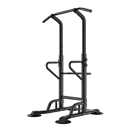 Soges Power Tower Adjustable Height Pull Up and Dip Station Multi-Function Home Strength Training Fitness Workout Station, PSBB002-P-CA