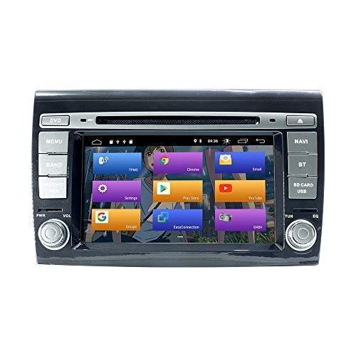 N A BOOYES per Fiat Bravo 2007-2012 Android 10.0 7' Lettore Dvd per Auto Multimedia Sistema GPS Supporto Auto Riproduzione Auto TPMS OBD 4G WiFi Dab Supporto Video 4K