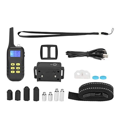 zhuolong Collar de Entrenamiento de Control Remoto eléctrico para Mascotas, Repelente de ladridos de Perro Recargable, Dispositivo antiladridos de 1000 M