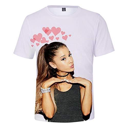 MissAc T-Shirt Dété à Manches Courtes pour Hommes/Femmes Haut à Manches Courtes en Polyester Ariana Grande T-Shirt Décontracté Imprimé en 3D