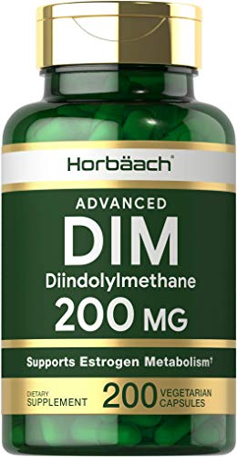 DIM Supplement 200mg | Advanced Diindolylmethane | 200 Veggie Capsules | Vegetarian, Non-GMO, Gluten Free | by Horbaach