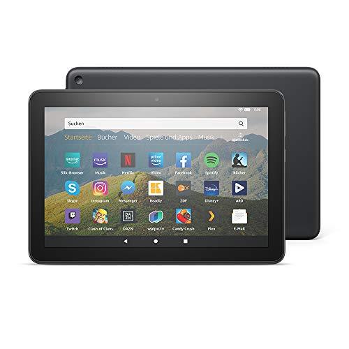 Das neue Fire HD 8-Tablet, 8-Zoll-HD-Display, 32 GB, Schwarz mit Spezialangeboten, für Unterhaltung unterwegs