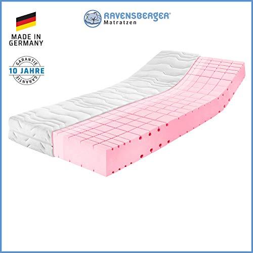 RAVENSBERGER Komfort-SAN® 50 | HR-Kaltschaummatratze | H2 RG 50 (45-80 kg) | Made in Germany - 10 Jahre Garantie | MEDICORE silverline®-Bezug | TÜV-Zertifiziert | 120 x 200 cm