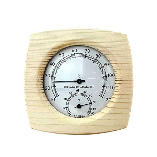 Soldmore7 Sauna-Thermometer-Hygrometer, Feuchtigkeitsmesser-Anzeige-Raum-Thermometer, genaues Temperatur-Feuchtigkeits-Monitor-Meter für Saunaraum, Haus, Büro