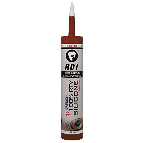 Red Devil 08090I RD PRO 100% Heat Resistant RTV Silicone Sealant, 10.1 oz., Red, 1 Pack
