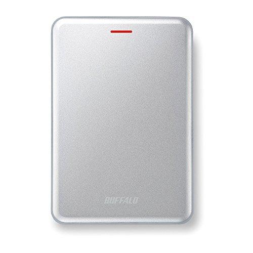 BUFFALO 高速・薄型 USB3.1(Gen2) ポータブルSSD 960GB シルバー SSD-PUS960U3-S