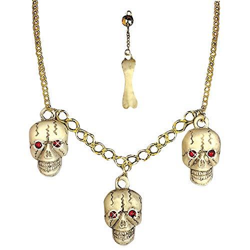 Widmann Generique - Set Bijoux Crâne Adulte Halloween
